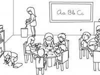 Dibujos del colegio en Conmishijos.com