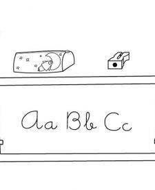 Las cosas del cole: dibujo para colorear e imprimir