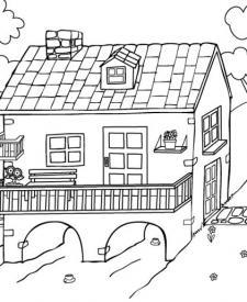 Bonita Casa Dibujo Para Colorear E Imprimir