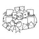 Corona de Adviento: dibujo para dibujar e imprimir