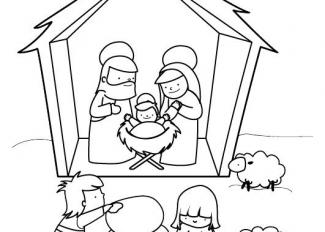 Pesebre en Navidad
