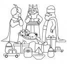 Reyes Magos: dibujo para colorear e imprimir