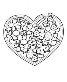 Corazón para el día de la madre: dibujo para colorear e imprimir