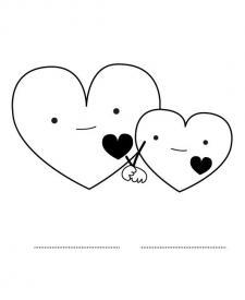 Corazón para el día del padre: dibujo para colorear e imprimir