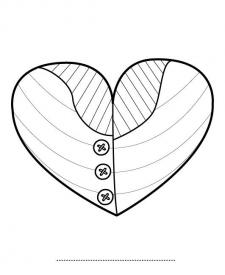 Corazón para tu abuela: dibujo para colorear e imprimir