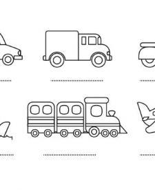 Medios de transporte: dibujos para colorear e imprimir