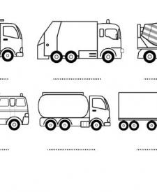 Camiones: dibujos para colorear e imprimir