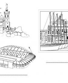 Marsella (1): dibujos para colorear e imprimir