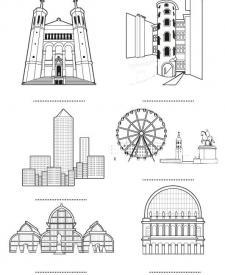 Lyon: dibujos para colorear e imprimir