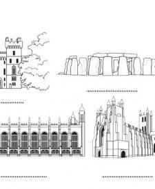 Inglaterra: dibujo para colorear e imprimir