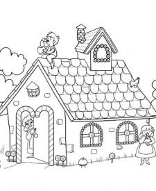 Hansel y Gretel: dibujo para colorear e imprimir