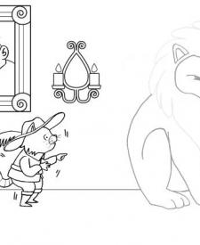 El gato con botas: dibujo para colorear e imprimir