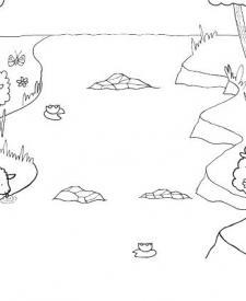 El lobo y el cordero: dibujo para colorear e imprimir