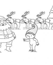 El traje de Papá Noel: dibujo para colorear e imprimir