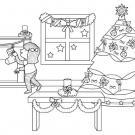 Decoración de Navidad: dibujo para colorear e imprimir