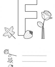 Letra F: dibujo para colorear e imprimir
