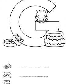 Letra G: dibujo para colorear e imprimir