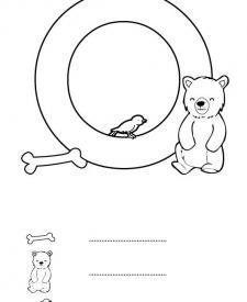 Letra O: dibujo para colorear e imprimir