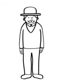 Abuelo: dibujo para colorear e imprimir