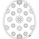 Huevo de Pascua de flores: dibujo para colorear e imprimir
