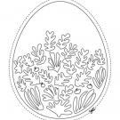 Huevo de Pascua Matisse: dibujo para colorear e imprimir
