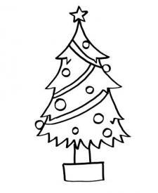 Árbol de Navidad: dibujo para colorear e imprimir