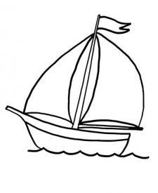 Barco de velas: dibujo para colorear e imprimir