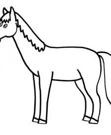 Un caballo: dibujo para colorear e imprimir