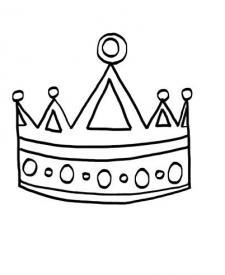 Una corona: dibujo para colorear e imprimir