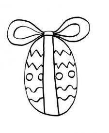 Huevo de Pascua regalo: dibujo para colorear e imprimir