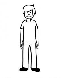 Un niño: dibujo para colorear e imprimir