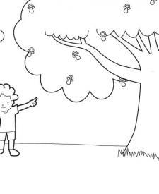 El árbol de los chupetes: dibujo para colorear e imprimir