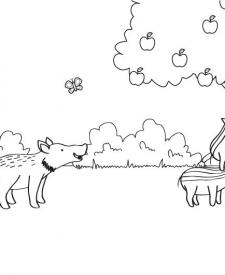 Jabalí y sus jabatos: dibujo para colorear e imprimir