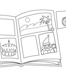 Albúm de cromos: dibujo para colorear e imprimir