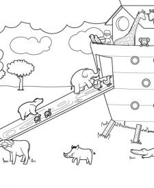 Arca de Noé: dibujo para colorear e imprimir
