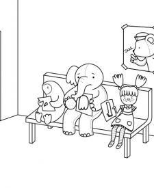 Hospital de juguetes: dibujo para colorear e imprimir