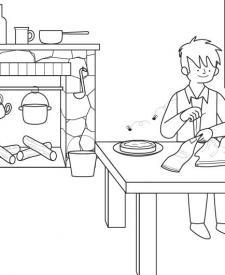 Sastrecillo valiente: dibujo para colorear e imprimir