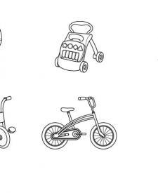 Transportes de niños: dibujo para colorear e imprimir