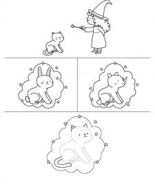 La gata Luna: dibujo para colorear e imprimir