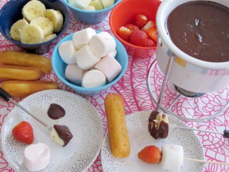Fondue de chocolate negro: receta paso a paso