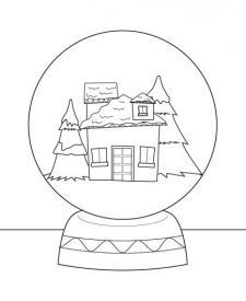 Bola de nieve: dibujo para colorear e imprimir