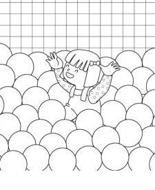 Piscina de bolas: dibujo para colorear e imprimir