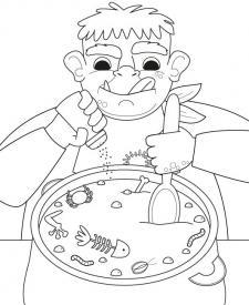 Comida del ogro: dibujo para colorear e imprimir