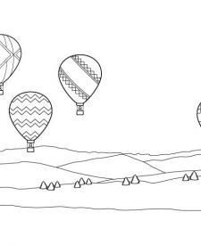 Carrera de globos: dibujo para colorear e imprimir
