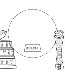 Trofeos: dibujo para colorear e imprimir