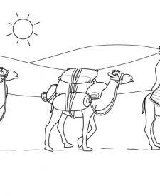 Tuareg: dibujo para colorear e imprimir