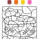 Dibujo mágico cumpleaños 2: dibujo para colorear e imprimir
