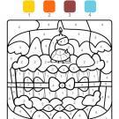 Dibujo mágico cumpleaños 6: dibujo para colorear e imprimir
