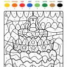 Dibujo mágico cumpleaños 8: dibujo para colorear e imprimir