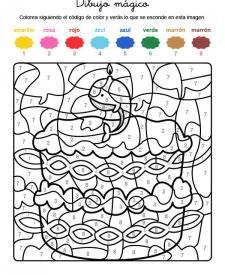 Dibujo mágico cumpleñaos 9: dibujo para colorear e imprimir